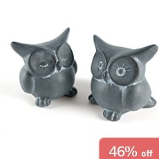 Pack of 2 ceramic owls