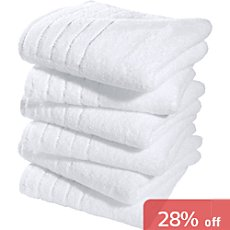 Pack of 6 Erwin Müller lightweight terry hand towels