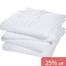Pack of 4 Erwin Müller lightweight bath towels