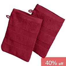 Pack of 2 Erwin Müller full terry wash mitts,  Ludwigsburg