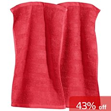 Pack of 2 Erwin Müller full terry guest towels,  Ludwigsburg