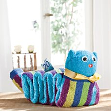 Towel gift set, worm