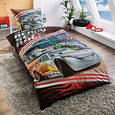 Herding cotton flannelette duvet cover set, Cars