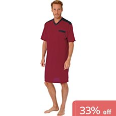 Hajo single jersey nightshirt
