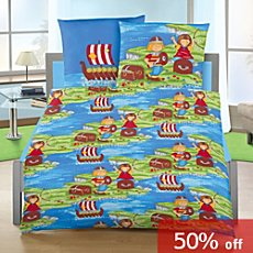 Cotton flannel duvet cover set, Viking