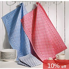 Pack of 6 two-play tea towels