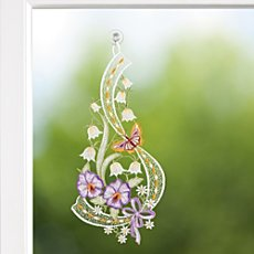 Window decoration, pansy