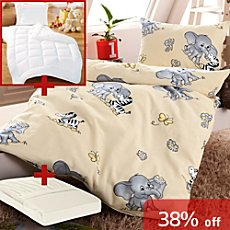 Baby Butt 5-pc toddler bedding set, elephant