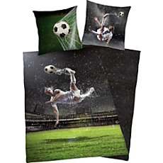 Reversible Herding Renforcé duvet cover set football