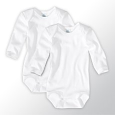 Pack of 2 Sanetta bodysuits with long sleeves