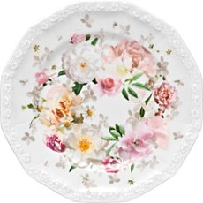 Rosenthal Selection Maria Pink Rose bread plate
