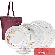Rosenthal Selection Maria Pink Rose 10-pc tableware set