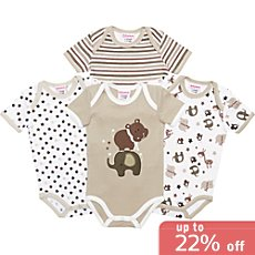 Pack of 4 Baby Butt short sleeved bodysuits