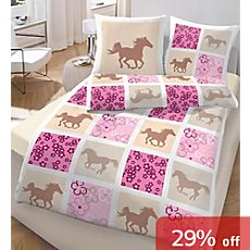 girl´s duvet cover set, horse