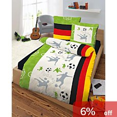 Kinderbutt  Renforcé duvet cover set football