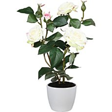 Artificial rose bush, 3 blooms