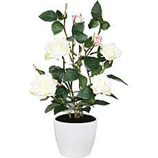 Artificial rose bush, 4 blooms