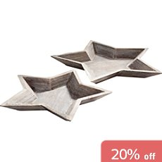Pack of 2 star-shaped trays