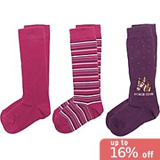 Pack of 3 Kinderbutt knee-high socks