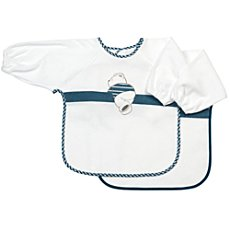 Pack of 2 Fashy terry bibs with sleeves