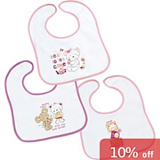 Pack of 3 Fashy terry bibs