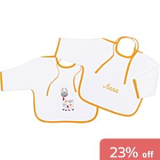 Pack of 2 Kinderbutt terry bibs with sleeves