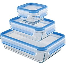 Emsa 3-pk glass food container set