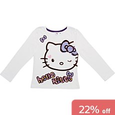 Hello Kitty top with long sleeves