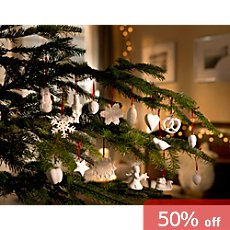 Weimar porcelain X-mas decoration set