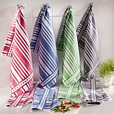 Pack of 3 half-linen tea towels