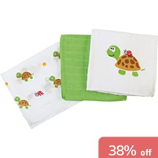 Pack of 3 Baby Butt muslin cloths
