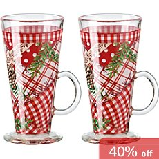 2-pk mulled wine glasses