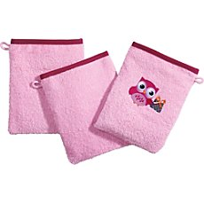 Pack of 3 Kinderbutt wash mitts