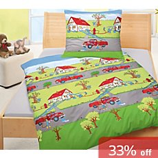 Bierbaum Renforcé duvet cover set, firefighter
