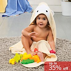 Kinderbutt terry hooded bath towel