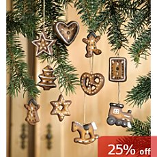 Pack of 10 decoration gingerbread