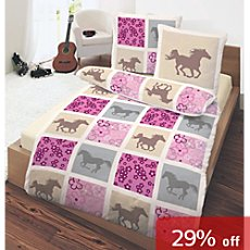 girl´s 3-pc duvet cover set, horse