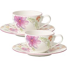 Villeroy & Boch  coffee cups & saucers set (2 each)