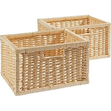 2-pk willow baskets