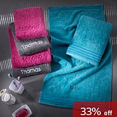 Erwin Müller  6-pc towel set incl. name embroidery