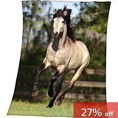Herding  fleece blanket horse
