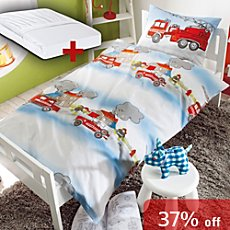 3-pc toddler duvet cover set, fire brigade