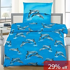 3-pc children duvet cover set dolphin