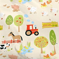 Baby Butt Renforcé fabric by the metre, farmyard