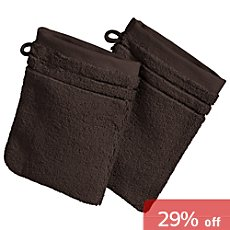 Pack of 2 Erwin Müller Supima wash mitts, Stuttgart