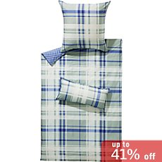 Irisette cotton flannel reversible duvet cover set