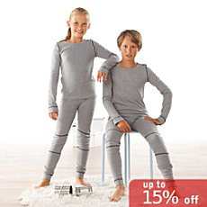 Kinderbutt  2-pk long sleeve thermal underwear shirts
