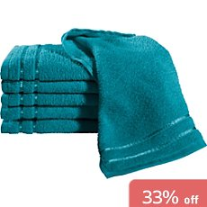 Pack of 6 Erwin Müller lightweight terry guest towels