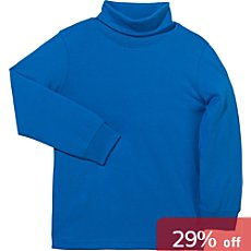 Blue Seven  roll-neck top