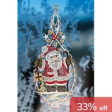 window decoration Santa Claus